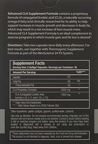 MenScience Androceuticals 3 Month Supply Advanced CLA Supplement Formula by MenScience Androceuticals (Image #1)