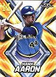2017 Topps Fire #163 Hank Aaron Milwaukee Brewers Baseball Card