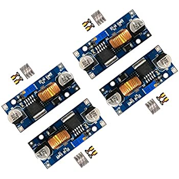 [4-PACK] 5A DC-DC Adjustable Buck Converter 4~38v to 1.25-36v Step Down Power Supply High Efficiency Voltage Regulator Module ([4-pack] 5a buck)