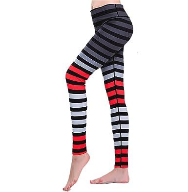 EUFANCE Femmes Mode Sport Leggings de Sport Contrastée Couleur Pilates Jogging  Gym Workout Fitness Yoga Pantalon Collants  Amazon.fr  Vêtements et ... 4ca2128f8ef