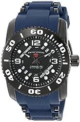 Swiss Legend Men's 'Commander Pro' Swiss Quartz Stainless Steel Casual Watch (Model: 10069-BB-01-BLS)