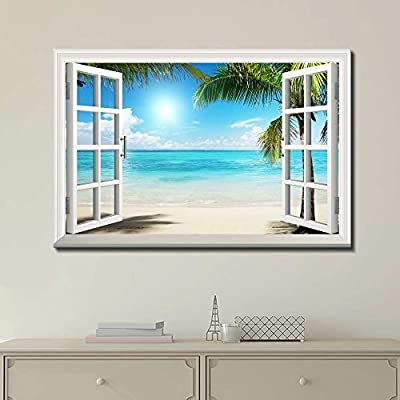 Incredible Portrait, Beautiful Tropical Beach Wall Decor, Classic Artwork