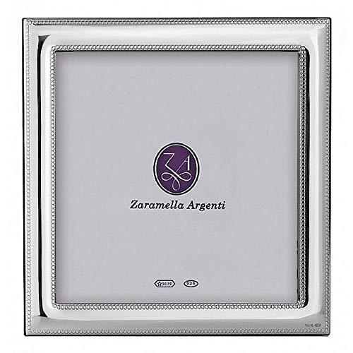(Luxurious MONACO beaded border sterling silver frame by Zaramella Argenti Italia - 7x7)
