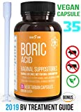 Product review for Fast Relief Vegan Capsule Boric Acid Vaginal Suppositories 600Mg 25ct Bonus EBook -