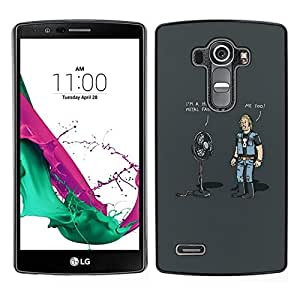 // PHONE CASE GIFT // Duro Estuche protector PC Cáscara Plástico Carcasa Funda Hard Protective Case for LG G4 / Huge Metal Fan - Funny /