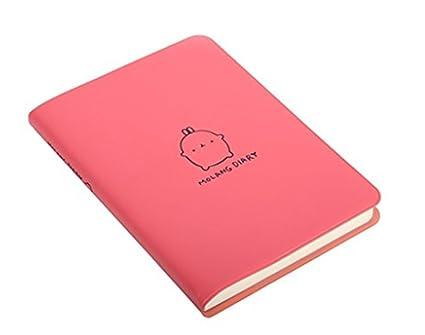 Kawaii Cute Rabbit Diary Any Year Writing Planner Pocket Portable Notebook Journal Notepad Agenda Scheduler Organizer (Red)