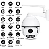 OMZBM Upgraded Wireless Wifi Mini Dome Camera 1080P Multifunction Security Remote Surveillance Camera With Motion Detection,Two-Way Voice,50 Meters IR Night Vision,12 Languages