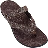 Orthaheel Cocoa Orthotic Thong Bronze Sandals