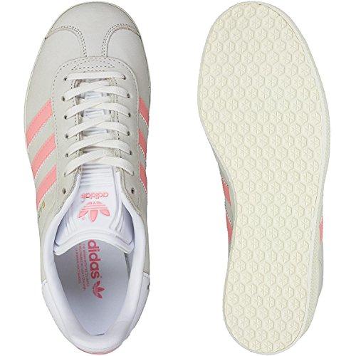 Allenatore Sneaker Adidas Gazelle Da Donna By9035 Bianco / Rosa