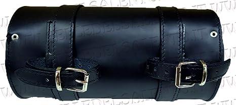 Personnalisable Selle del Salento F/ût sac de moto en cuir 20/x 10 cm/avec gravure cr/âne avec inscription porte-outils compatible avec Harley Davidson moto Guzzi Triumph