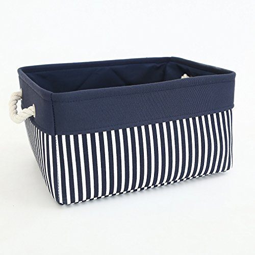 TcaFmac Small Basket Rectangular Fabric Storage Basket Canvas Storage Bins Gift Basket Empty (For Baskets Storage Nautical)
