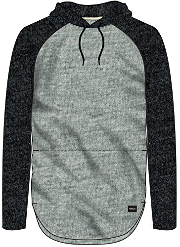 Hurley Men's Df Grant Ls Hood Grey Heather XL