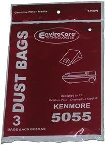 Kenmore 5055 50558 Type C Sears Canister Tank Vacuum Bags 609226 02050002000 50104 50012 Panasonic C-5 MC-V150M C-19 MC-V295H V9644 V9634 CG901 CG983, Progressive, Intuition, Whispertone, PowerMate