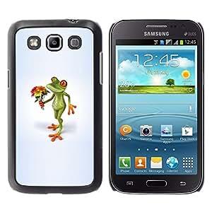 Be Good Phone Accessory // Dura Cáscara cubierta Protectora Caso Carcasa Funda de Protección para Samsung Galaxy Win I8550 I8552 Grand Quattro // Love Valentines Frog Girlfriend