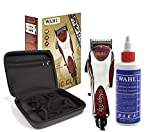 Wahl Professional 5-Star Magic Clip #8451 with Travel Storage Case #90728 and 4oz Clipper Oil #03310 – Great for Barbers and Stylists