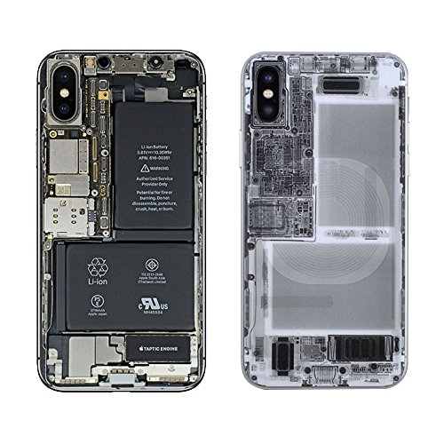 iPhone X Skin, X Ray - Color Print Oil-Proof Sticker Back Protect Film (Color & X Ray)