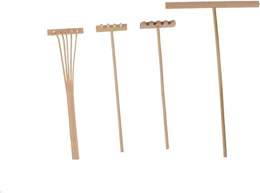 SUPVOX 8 Piezas Mini Herramientas de jardín Zen rastrillos de bambú alisado de Arena Empujar rastrillo Dibujo Stylus Accesorios de decoración en Miniatura: Amazon.es: Hogar