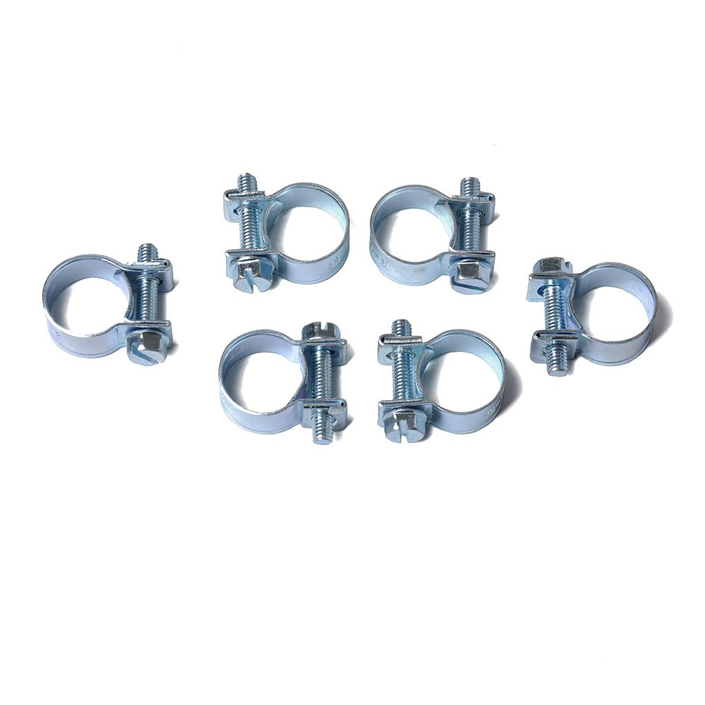 10PCS inyecci/ón Conjunto de acero al carbono mini abrazadera de combustible Piezas de reemplazo de la manguera Manguera de aire Pinzas Surtido 16-18mm Auto