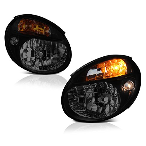 VIPMotoZ 2002-2003 Subaru Impreza WRX Headlights - Matte Black Housing, Smoke Lens, Driver and Passenger Side