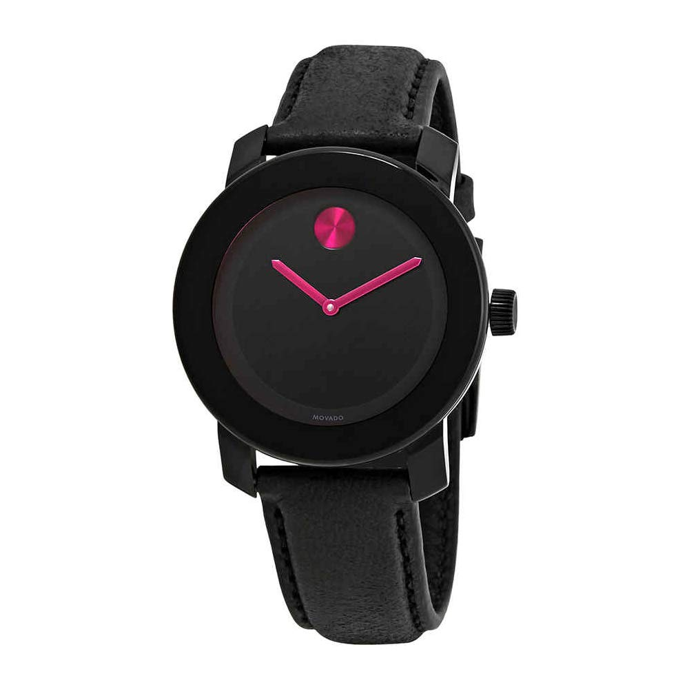 a1e9fb934 Amazon.com: Movado Bold Black Pink Dial Ladies Women's Watch 3600482 ...