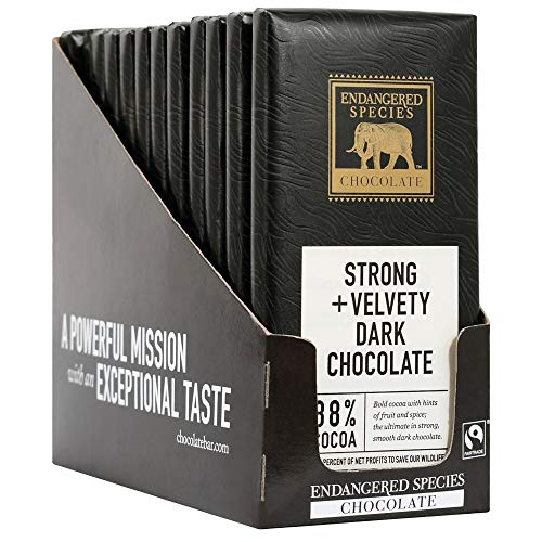 Endangered Species - Dark Chocolate Bars Box 88% Cocoa - 12 Bars (Dark Chocolate Panther)