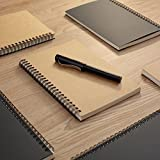 Soft Cover Spiral Sketchpad Notebooks - Pack of