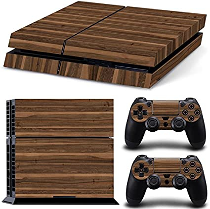 NOT for PS4 Pro or PS4 Slim Gam3Gear Vinyl Sticker Pattern Decals Skin for PS4 Console /& Controller Gold