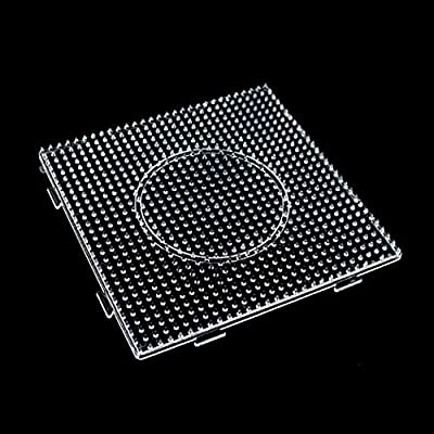Fuse Bead Pegboard Square Plastic Pegboard Beads Template for Kids Craft Beads: Everything Else