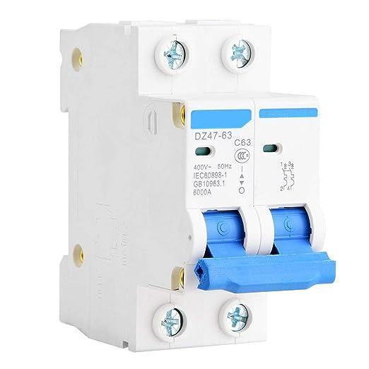 Interruptor de circuito en miniatura DZ47-63 2P 400V AC ...