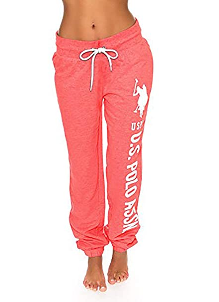 U.S. Polo Assn. Womens Printed French Terry Boyfriend Jogger ...