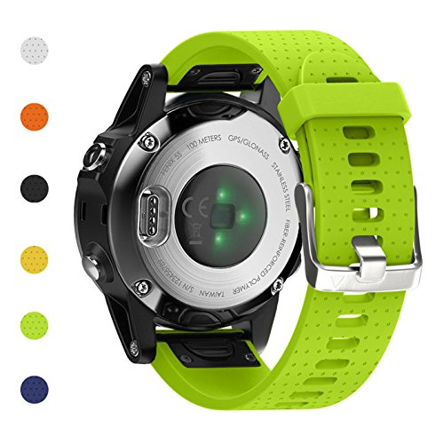 Fashioneey for Garmin Fenix 5S Band,Quick Release 20mm Silicone Smart Watch Replacement Strap for Garmin Fenix 5S