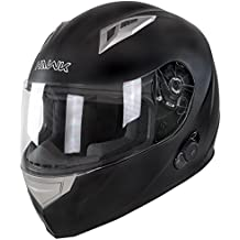 Hawk H-500 Flat Black Bluetooth Full Face Helmet - Large