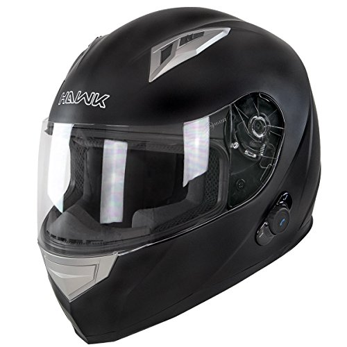 Flat Black Full Face Motorcycle Helmet - 3