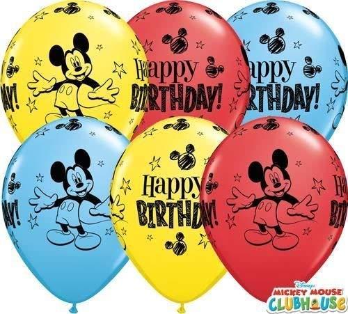 Mickey Mouse feliz cumpleaños 11 cm Qualatex globos de látex ...
