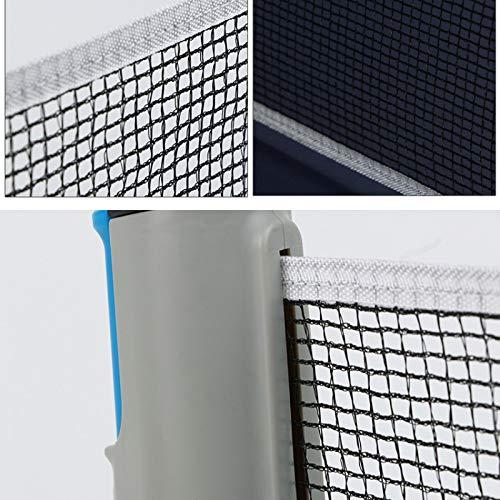 ZPAPPQWA Robustes tragbares Tischtennisnetz Teleskop-Netzgestell Tragbares Netzgestell Tischtenniszubeh/ör f/ür den Au/ßenbereich