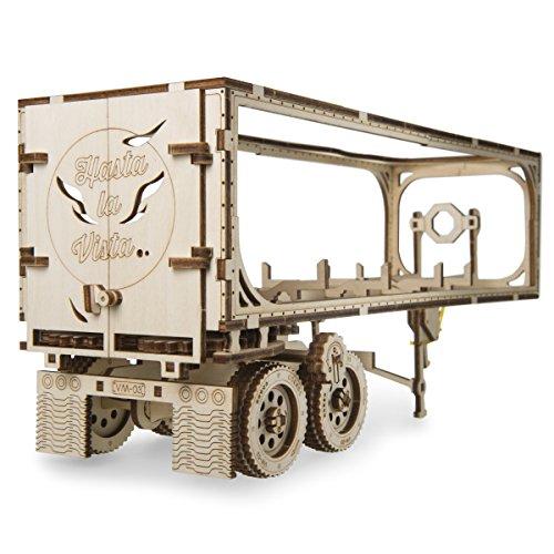 UGEARS Trailer for Heavy Boy Truck VM-03 Self-Assembling 3D Wooden Model by UGEARS