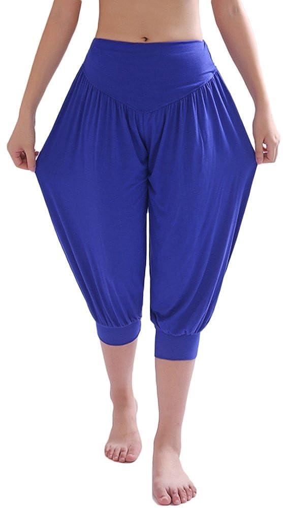 3a1bed0763 AvaCostume Modal Cotton Soft Yoga Sports Dance Harem Capri Pants:  Amazon.ca: Clothing & Accessories