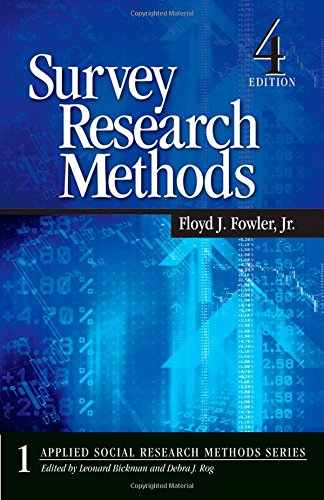 Survey Research Methods (Applied Social Research Methods Series, No. 1)