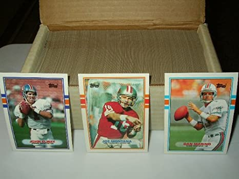 a3c74392107 Image Unavailable. Image not available for. Color  1989 Topps Football Card  Complete Set ...