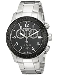 Tissot Mens T0394172105700 V8 Analog Display Swiss Quartz Silver Watch