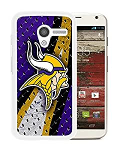 Minnesota Vikings 02 White Newest Custom Design Motorola Moto X Phone Case