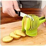Salesland Tomato Slicer ,Multifunctional Handheld Tomato Round Slicer Fruit Vegetable Cutter,Lemon Shreadders Slicer