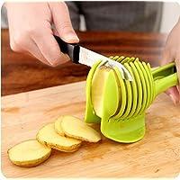 trifycore multiuso affettare di pomodoro e limone Fruit Slicer Blocco Slicer Pomodoro Lemon Cutter Multiuso Clip Holder Tool Green Tomato Cup X 1