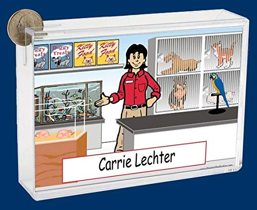 Personalized NTT Cartoon Side Slide Frame Gift: Pet Store Female Gift, pet Store Worker, pet Lover, petco, petsmart, Rescue