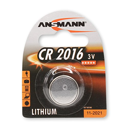 ANSMANN CR2016 Coin Cell Button Cell Battery with high capac