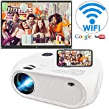 Wireless WiFi Projector 3800L,WEILIANTE 2020 Upgraded Mini Video Projector, Support 50,000Hrs, 200