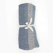 "Soft Lap Plaid Throw Blanket-Soo Angeles 100% Acrylic Woven Yarn Dyed Fringed Diamond Throw Blanket Bed Blankets Bedspread Soft Cozy Blanket Aqua Blue 63"" W x 79"" L"