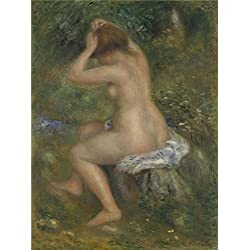 Oil Painting 'Pierre Auguste Renoir A Bather ' Printing On High Quality Polyster Canvas , 30 X 40 Inch / 76 X 102 Cm ,the Best Bedroom Decor And Home Artwork And Gifts Is This Vivid Art Decorative Prints On Canvas