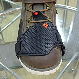 A.B Crew Soft Anti-lost Motorcycle Shoe Boot Cover Shifter Scuff Marks Protector Non Slip Stronger Heel Strap