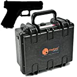 Elephant E120 Handgun Pistol Hard Case for Small to Medium Gun and Magazine Great for the Shooting Range, Safe Storage or Travel Fits Glock 19, Sig Sauer P226 Smith & Wesson M&p Under and More Under 8""